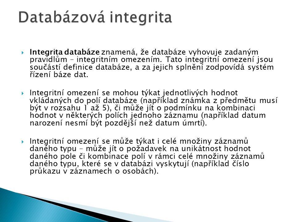 Databázová integrita