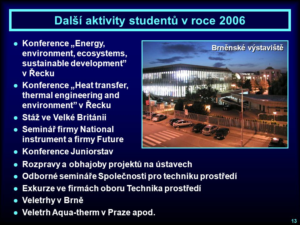 Další aktivity studentů v roce 2006