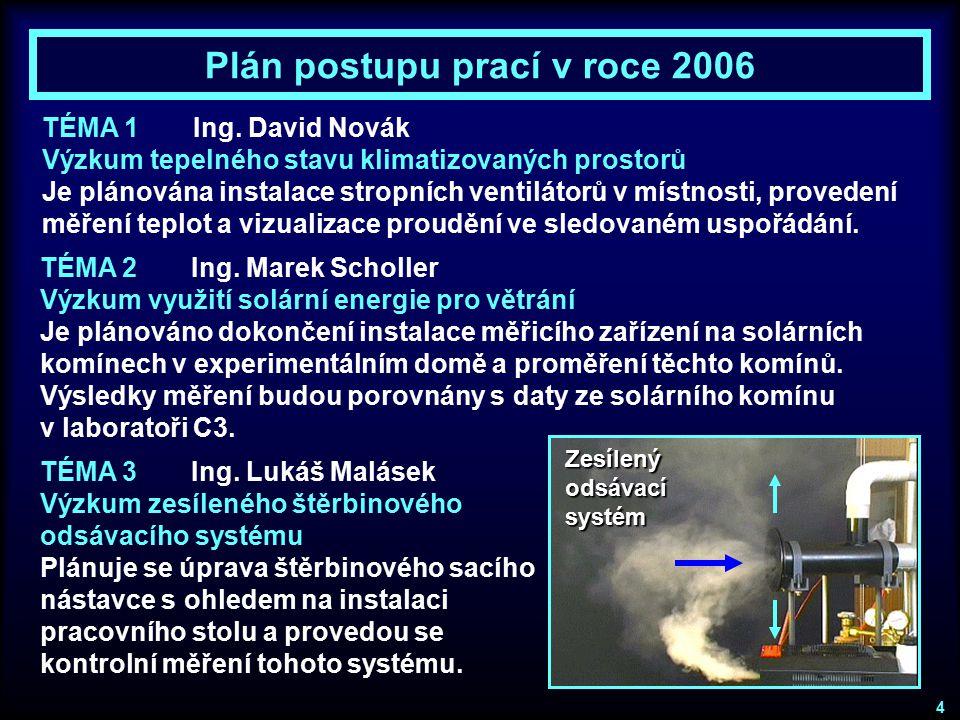 Plán postupu prací v roce 2006