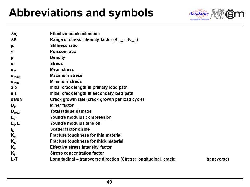 Abbreviations and symbols