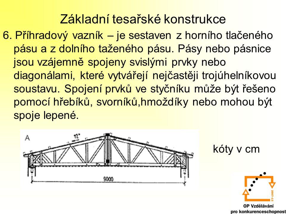 Základní tesařské konstrukce