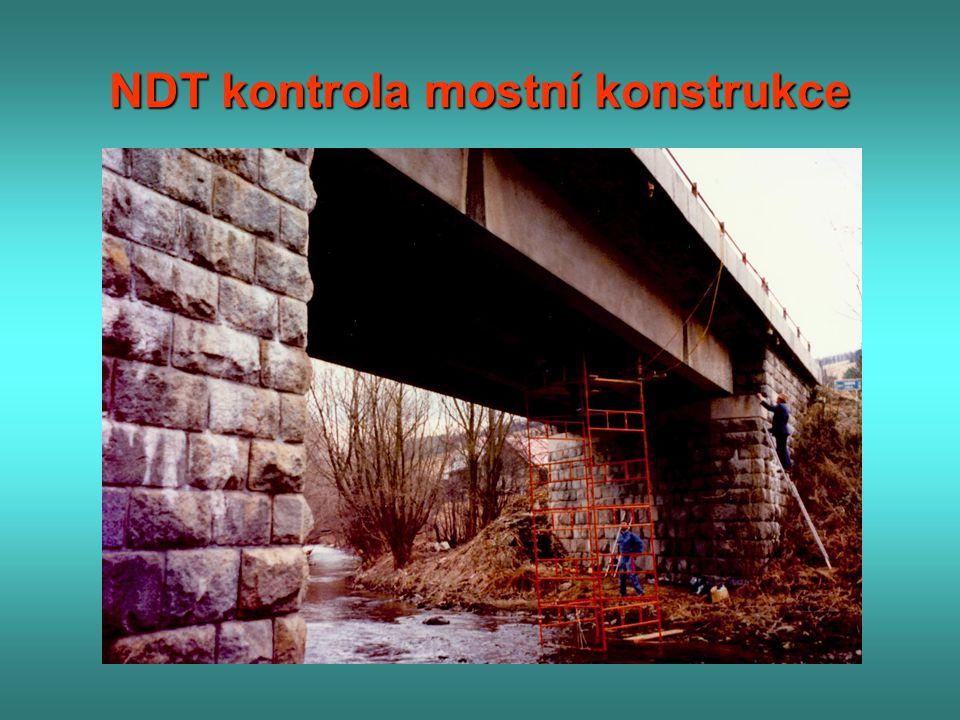 NDT kontrola mostní konstrukce