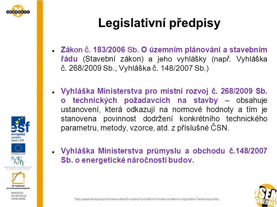 Legislativní předpisy