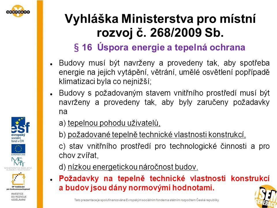 Vyhláška Ministerstva pro místní rozvoj č. 268/2009 Sb.