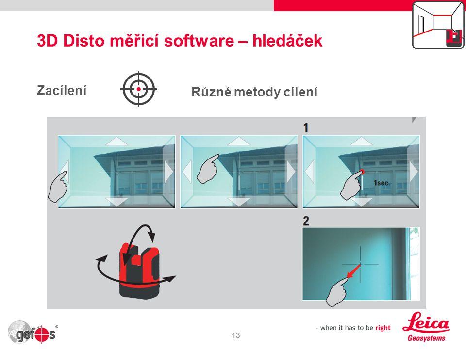 3D Disto měřicí software – hledáček