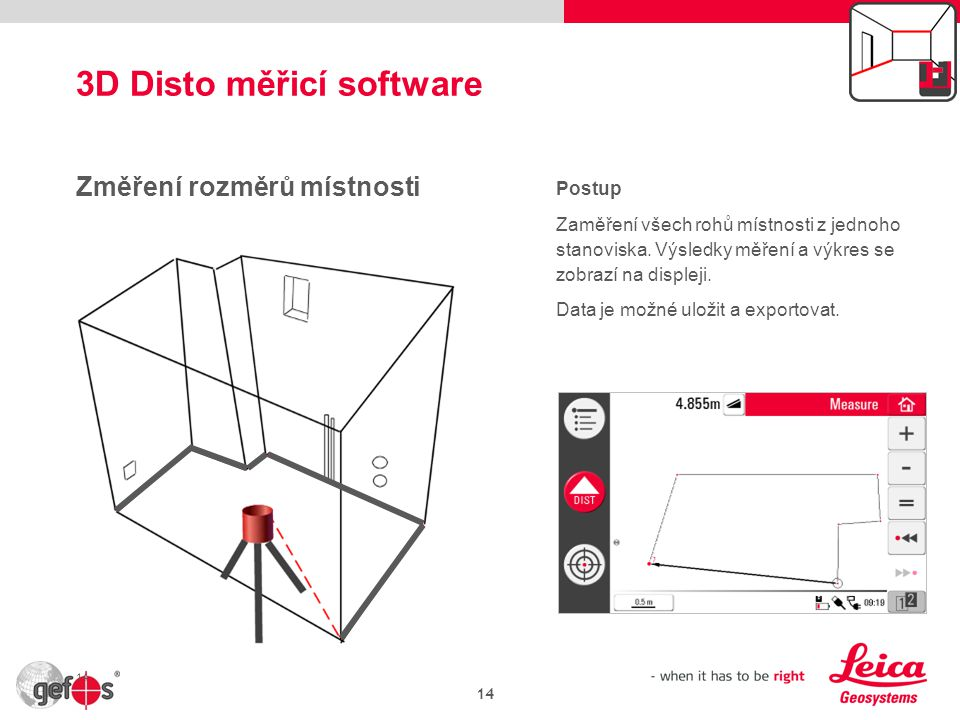 3D Disto měřicí software