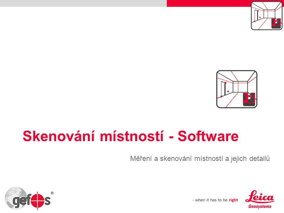 Skenování místností - Software