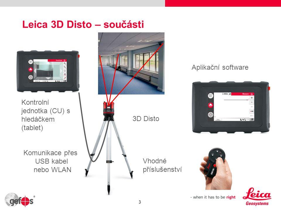 Leica 3D Disto – součásti
