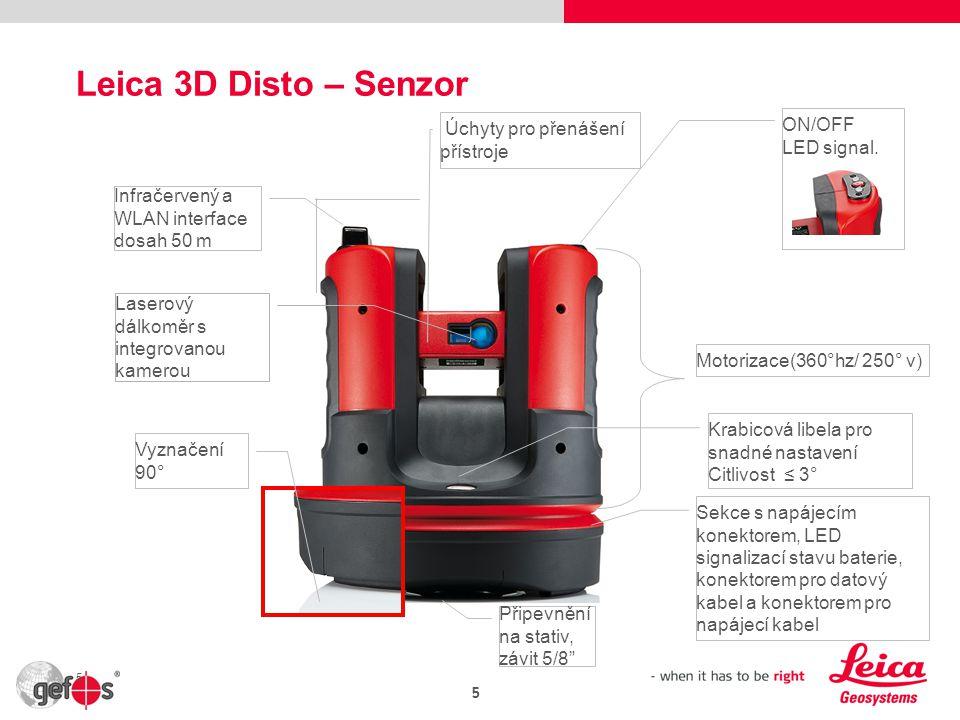 Leica 3D Disto – Senzor ON/OFF Úchyty pro přenášení přístroje