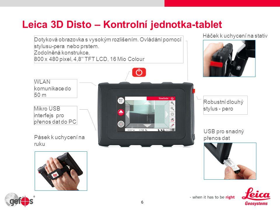 Leica 3D Disto – Kontrolní jednotka-tablet