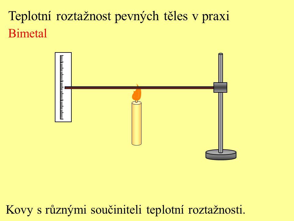 Teplotní roztažnost pevných těles v praxi