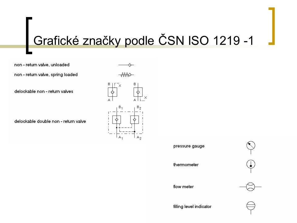 Grafické značky podle ČSN ISO 1219 -1