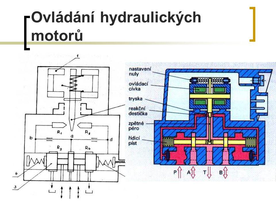 Ovládání hydraulických motorů