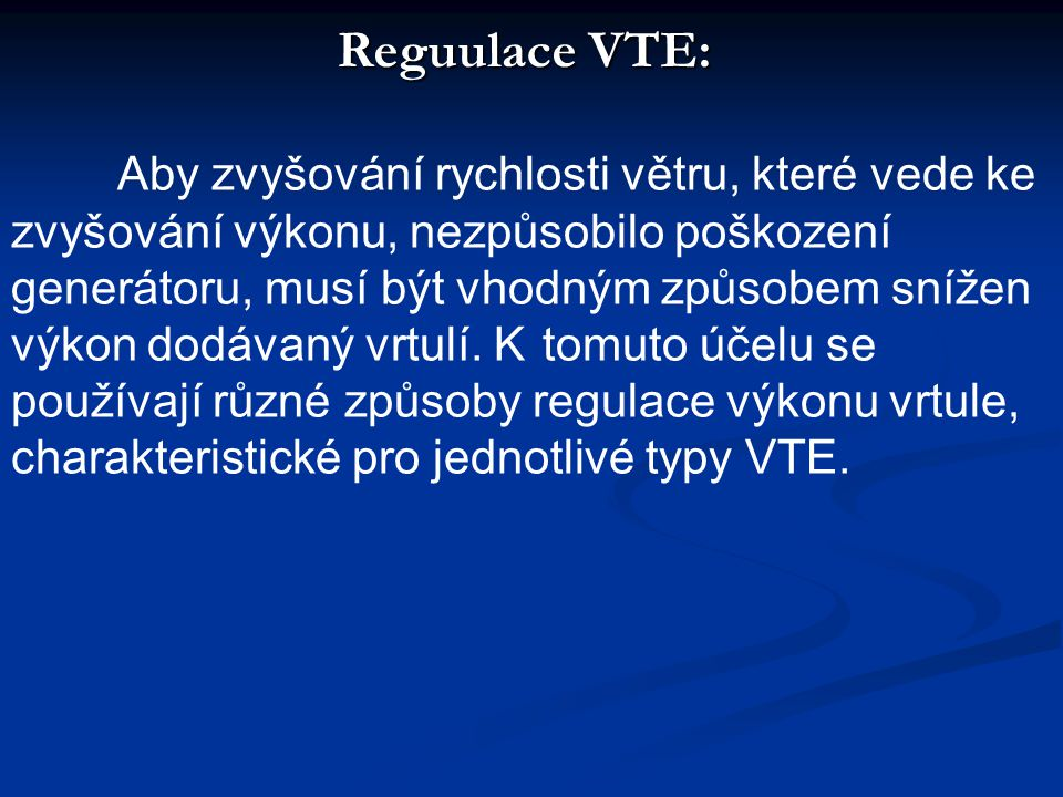 Reguulace VTE: