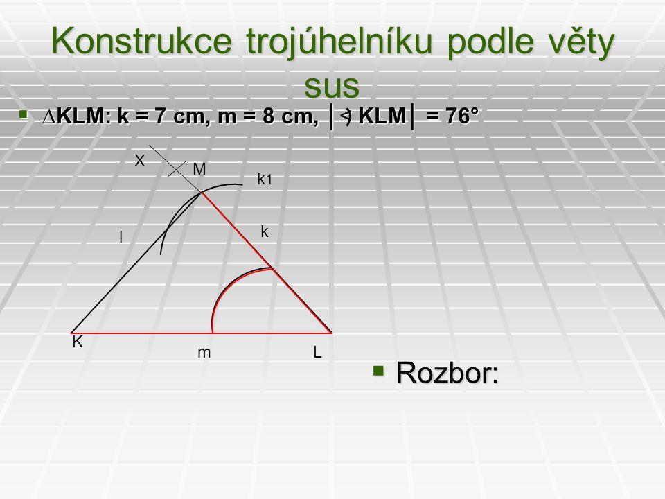 Konstrukce trojúhelníku podle věty sus