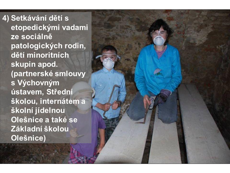 Setkávání dětí s etopedickými vadami ze sociálně patologických rodin, dětí minoritních skupin apod.
