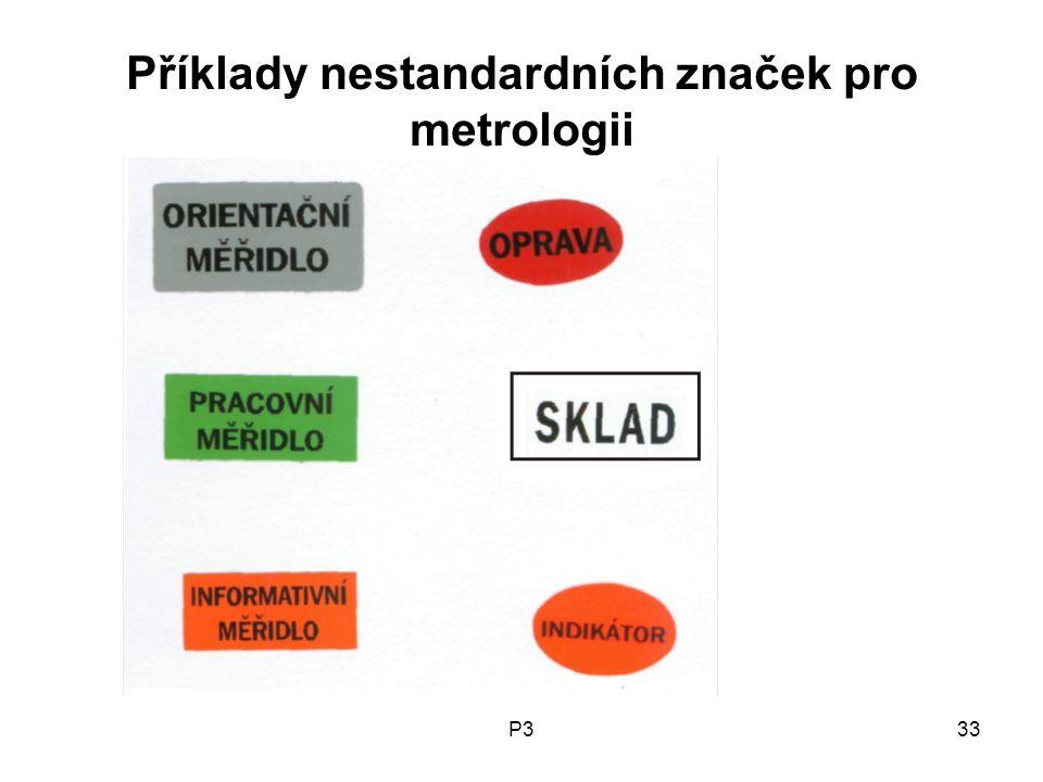 Příklady nestandardních značek pro metrologii