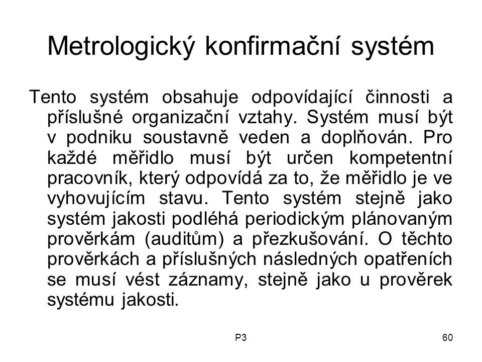 Metrologický konfirmační systém