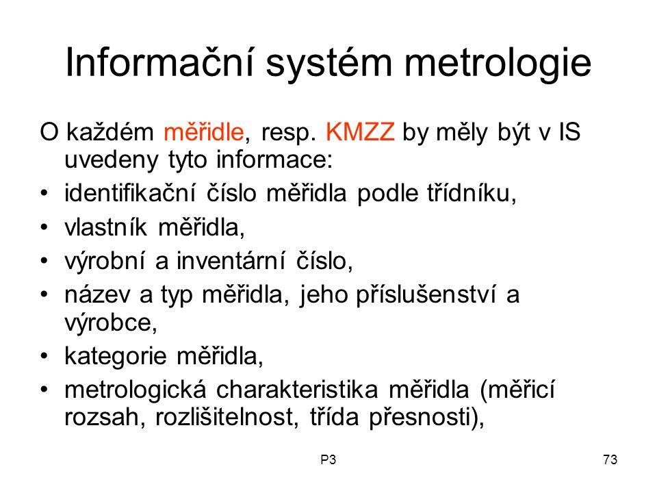Informační systém metrologie