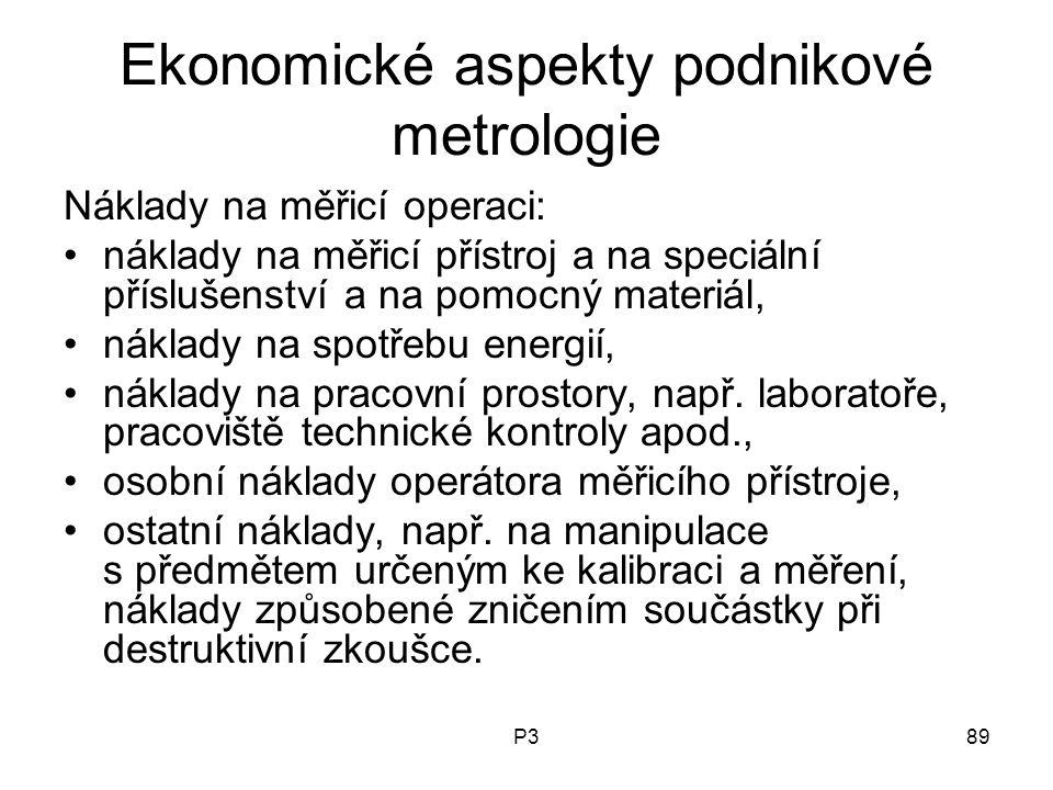 Ekonomické aspekty podnikové metrologie