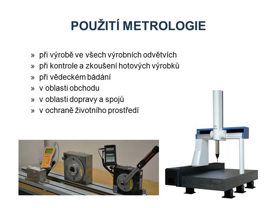 Použití metrologie při výrobě ve všech výrobních odvětvích