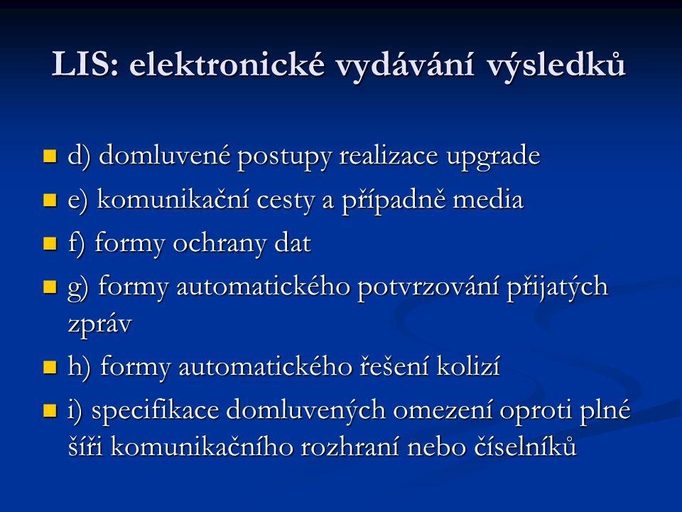 LIS: elektronické vydávání výsledků