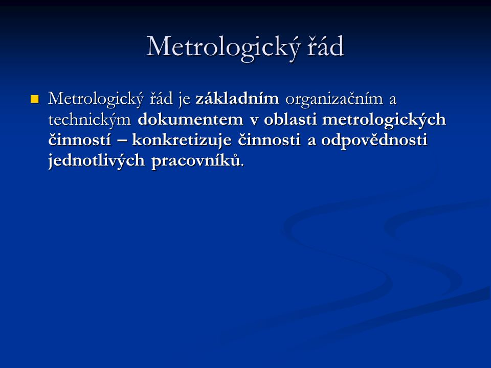 Metrologický řád