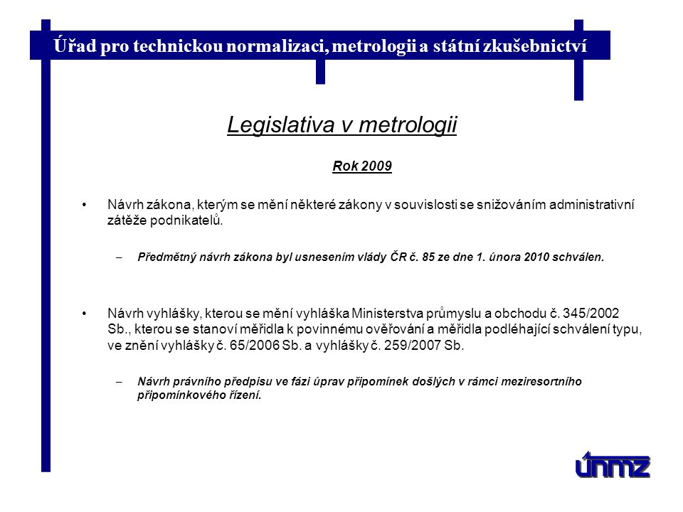 Legislativa v metrologii