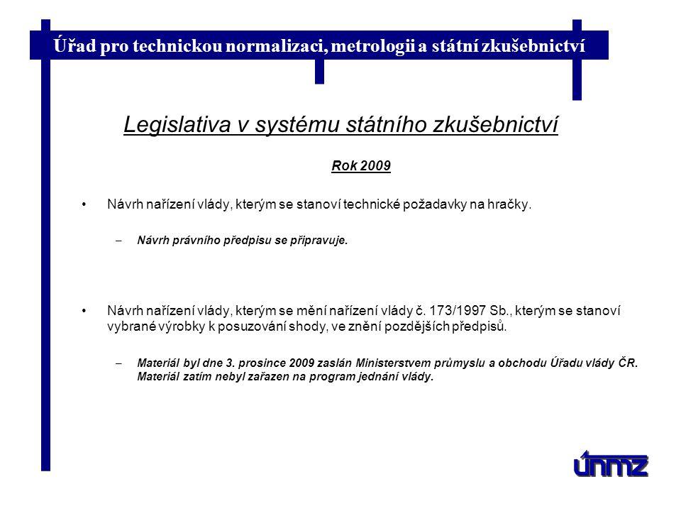 Legislativa v systému státního zkušebnictví