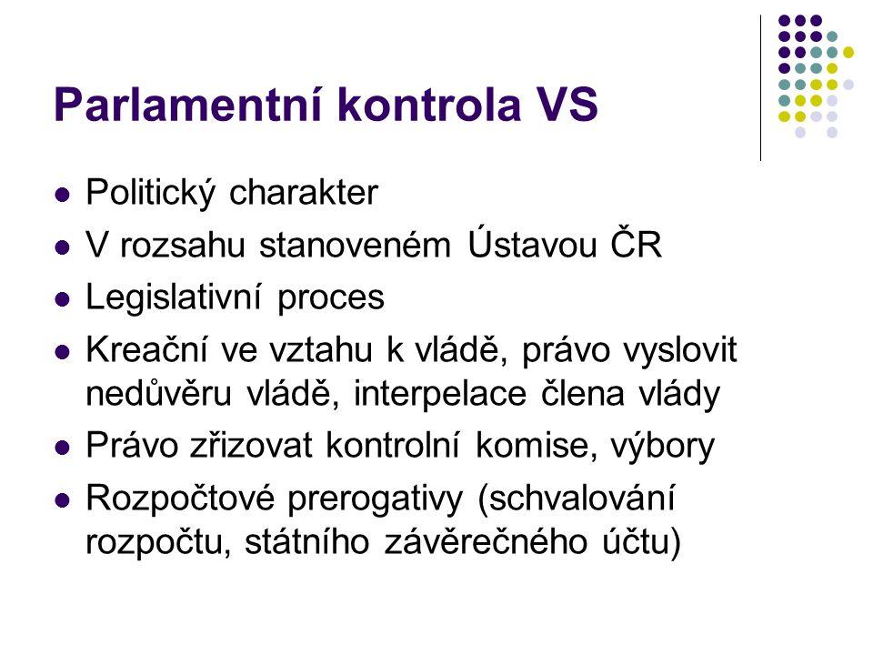 Parlamentní kontrola VS