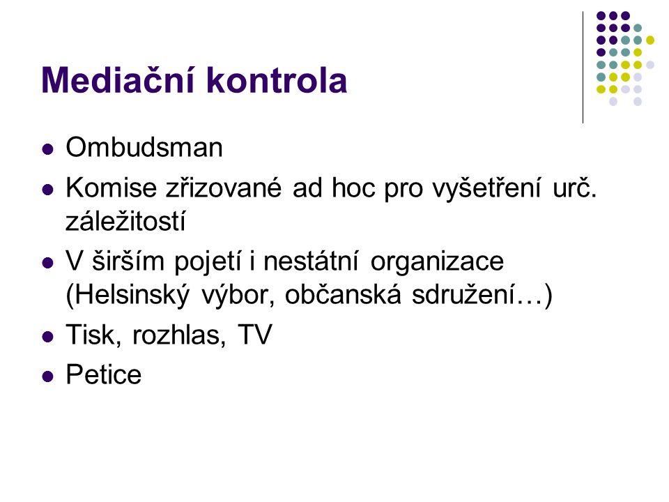 Mediační kontrola Ombudsman