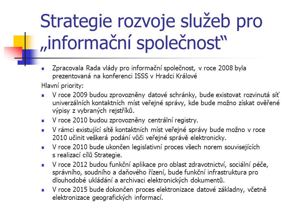 """Strategie rozvoje služeb pro """"informační společnost"""