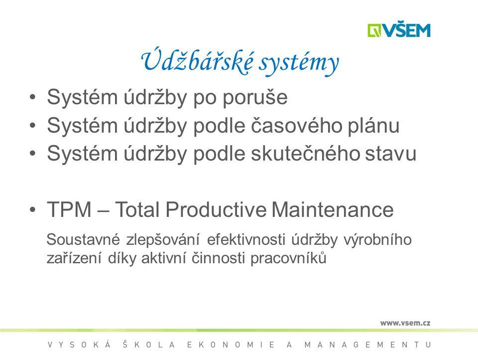 Údžbářské systémy Systém údržby po poruše