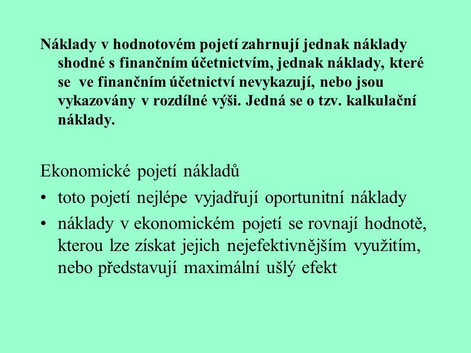 Ekonomické pojetí nákladů