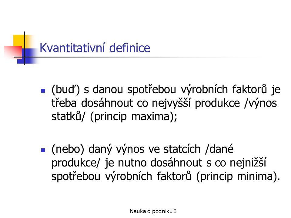 Kvantitativní definice