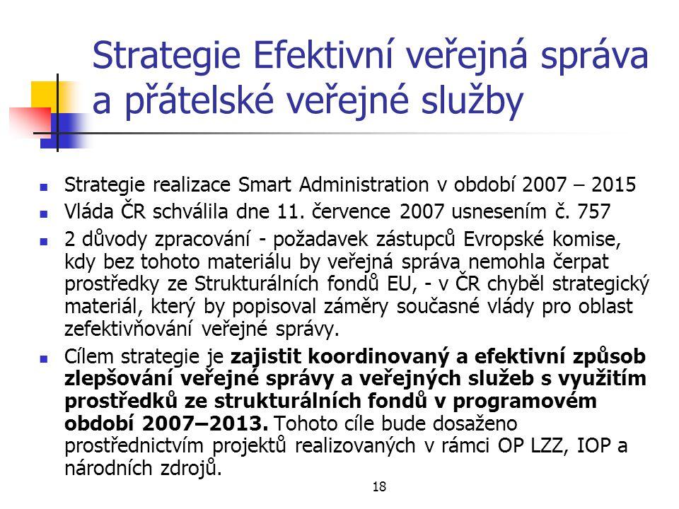 Strategie Efektivní veřejná správa a přátelské veřejné služby