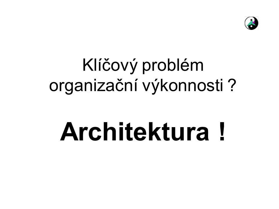 Klíčový problém organizační výkonnosti Architektura !