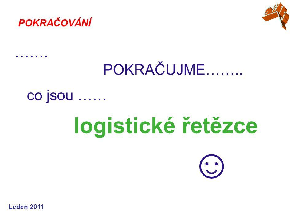 ……. POKRAČUJME…….. co jsou …… logistické řetězce ☺