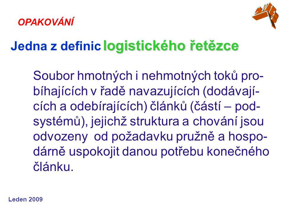 Jedna z definic logistického řetězce