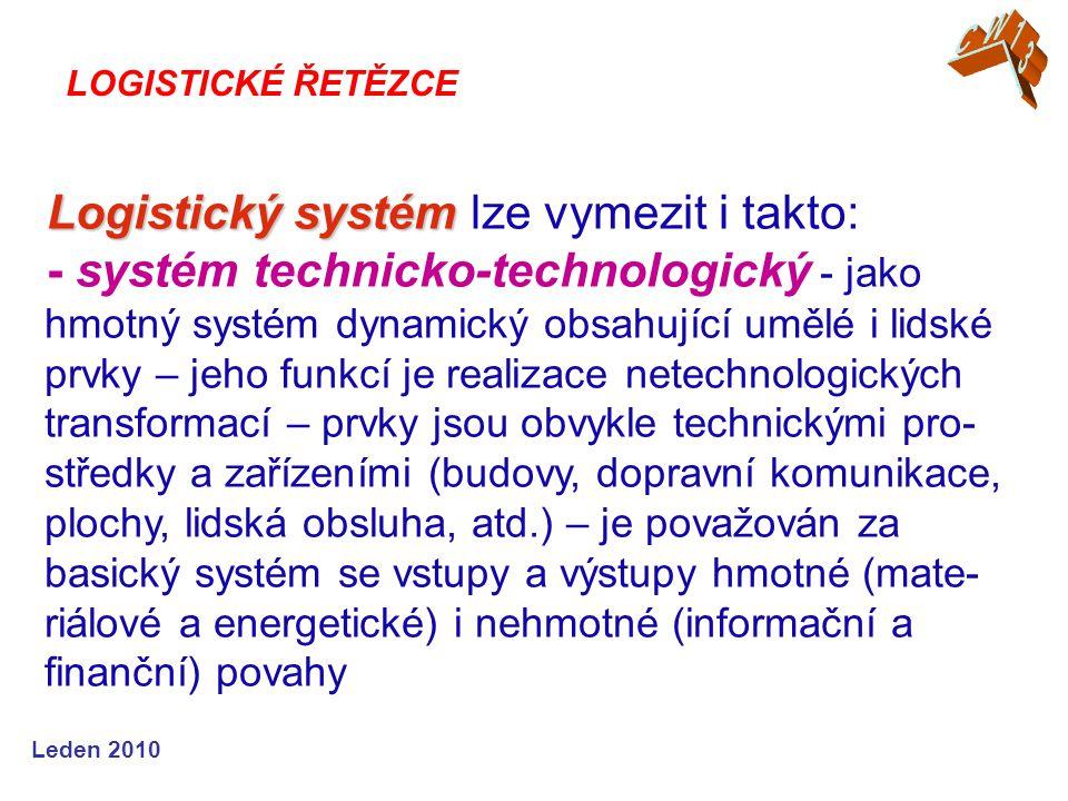 Logistický systém lze vymezit i takto: