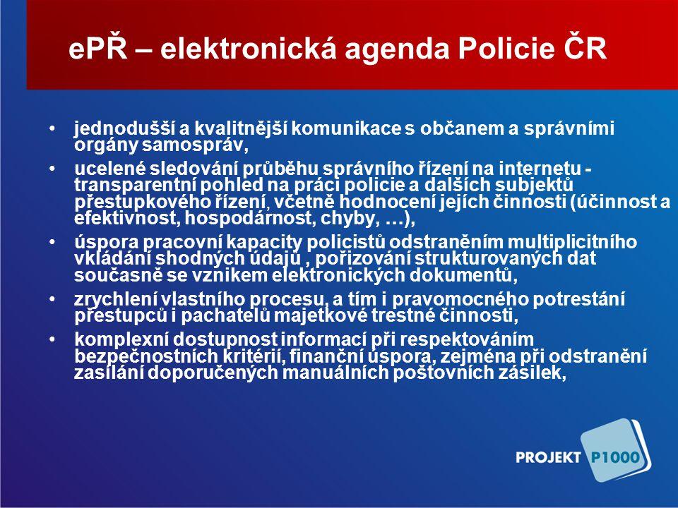 ePŘ – elektronická agenda Policie ČR