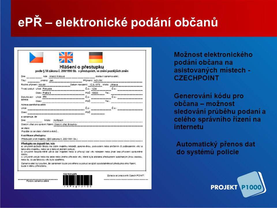 ePŘ – elektronické podání občanů