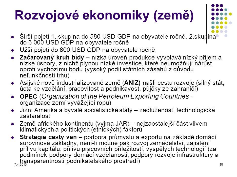 Rozvojové ekonomiky (země)