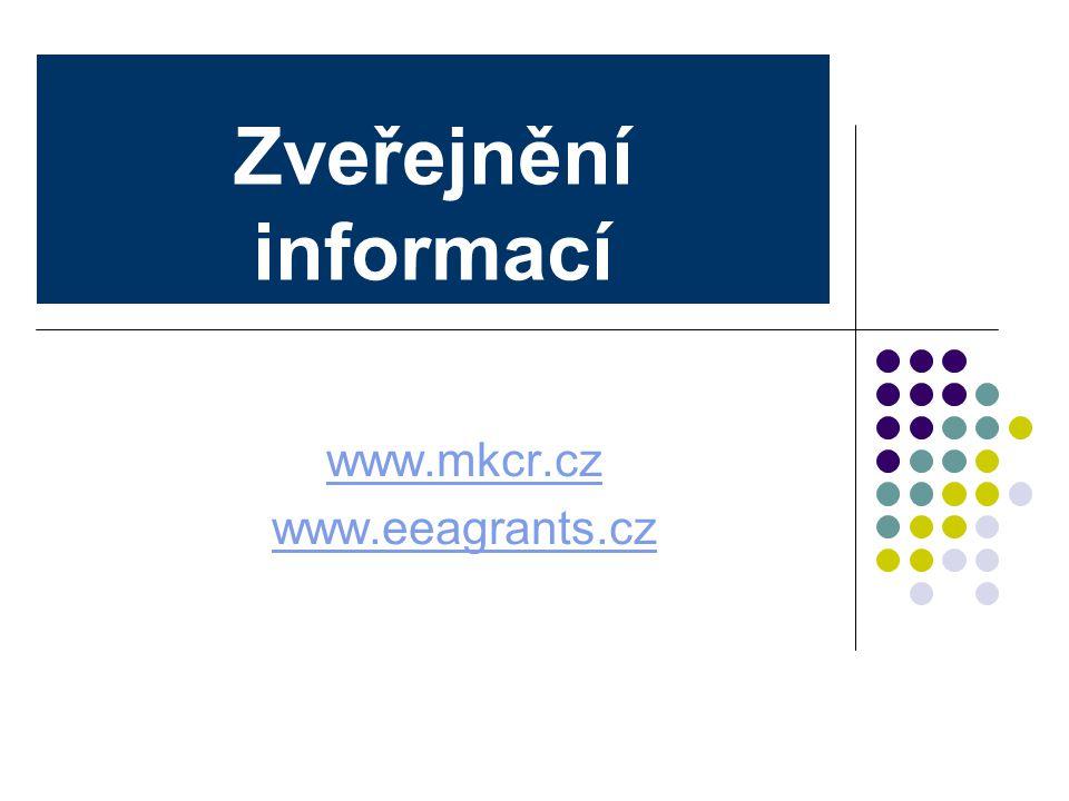 www.mkcr.cz www.eeagrants.cz