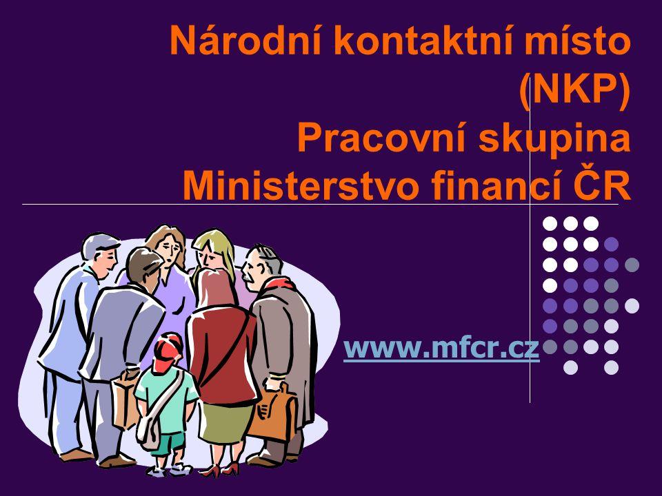 Národní kontaktní místo (NKP) Pracovní skupina Ministerstvo financí ČR