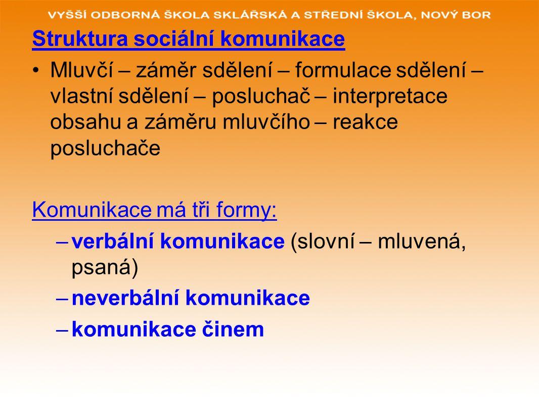 Struktura sociální komunikace
