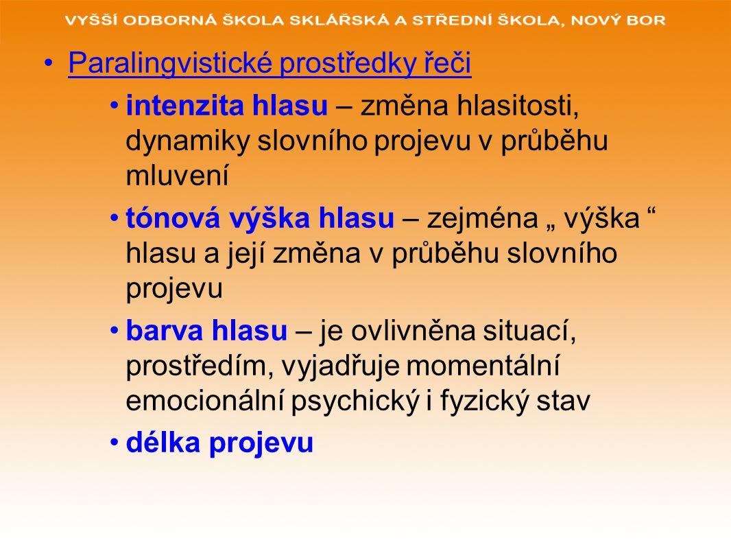 Paralingvistické prostředky řeči