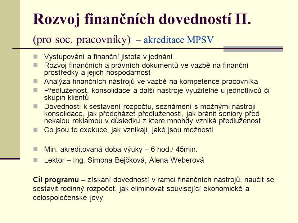 Rozvoj finančních dovedností II. (pro soc