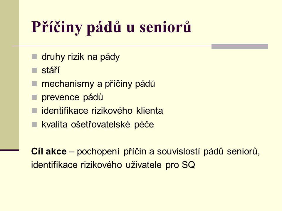 Příčiny pádů u seniorů druhy rizik na pády stáří