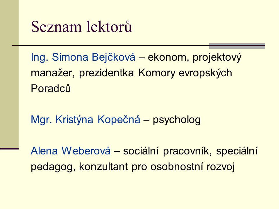 Seznam lektorů